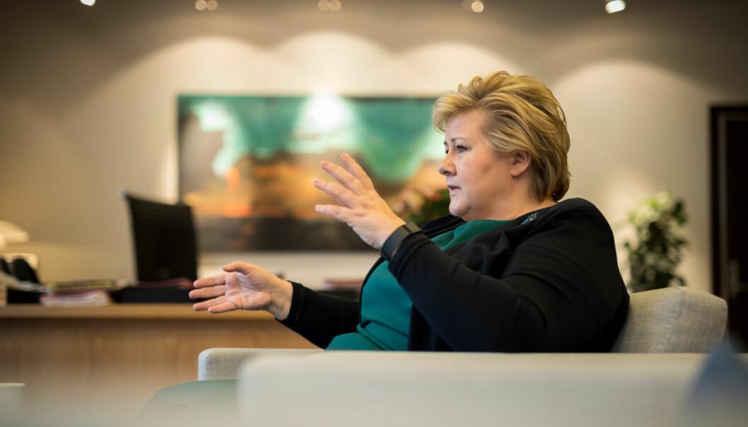 Da Erna Solberg ble statsminister i 2013 bodde mer enn halvparten av Norges befolkning i en kommune styrt av Høyre. Dette tallet ble sterkt redusert ved kommunevalget i 2015. Det er lite som tyder på at ting vil bli bedre for partiet etter kommunevalget på mandag. Foto: Hans Kristian Thorbjørnsen