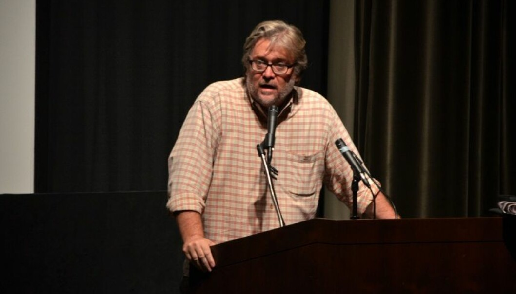 Steve Bannon talte i Oslo på fredag i regi av Document.