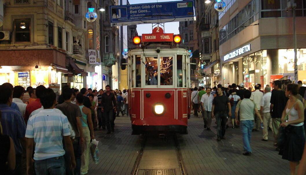 Istiklalgaten i Istanbul.