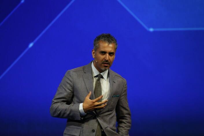 Maajid Nawaz snakker på OFF. Foto: Oslo Freedom Forum.