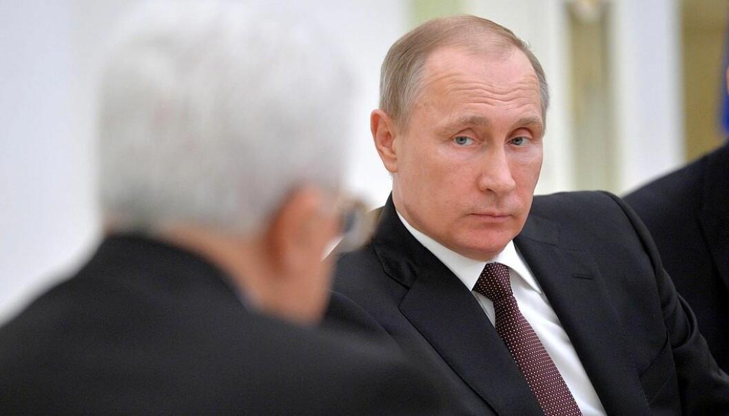 Vladimir Putin under et møte med Mahmoud Abbas i april 2016. Foto: Kremlin.ru [CC BY 4.0].