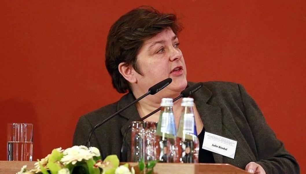Julie Bindel i Latvia i oktober 2015. Foto: Saeima, CC BY-SA 2.0