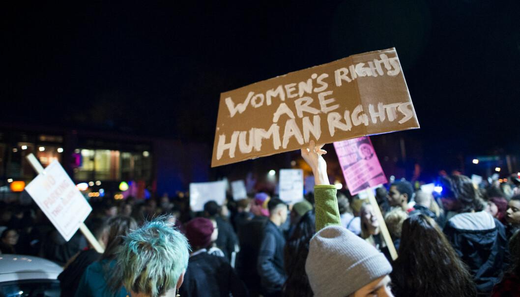 Demonstrasjon mot Trump i Minneapolis 10. november 2016.