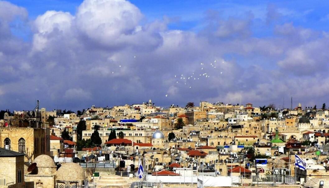 Fredsduer over Jerusalem Foto: Bjørn Erik Rasch