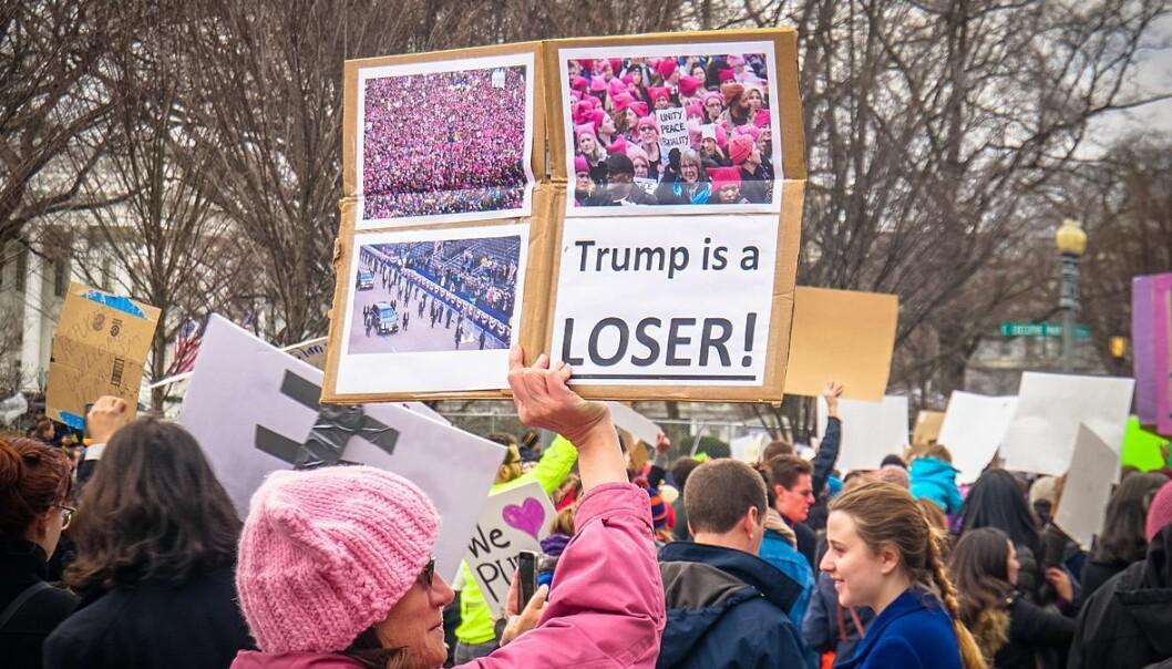 Protester mot Donald Trumps presidentordre om innreisenekt i Washington, D.C. 29. januar. 2017.