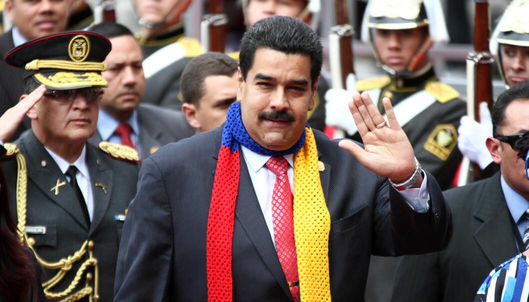 Regjeringen til Nicolás Maduro er autoritær og militarisert, mens det er opposisjonen som er sivil og demokratisk, skriver Leiv Marsteintredet. Foto: Agencia de Noticias ANDES.