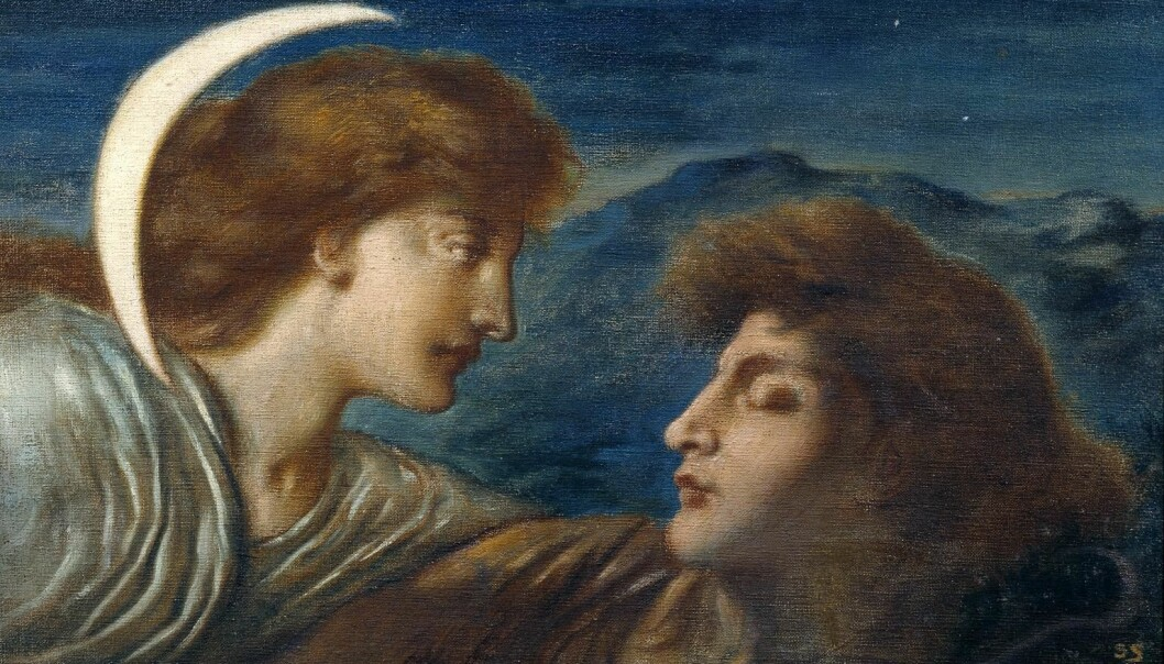 Simeon Solomon: The Moon and Sleep (1894.)