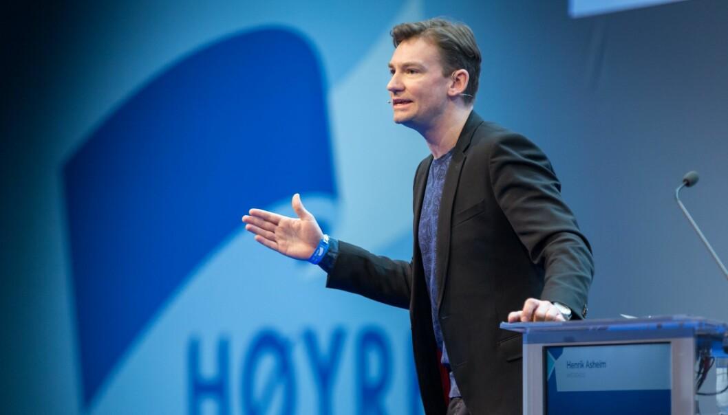 Henrik Asheim innleder på Høyres Landsmøte