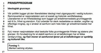 """""""Språklig og kulturelt like"""": Et av de omstridte forslagene i programutkastet."""