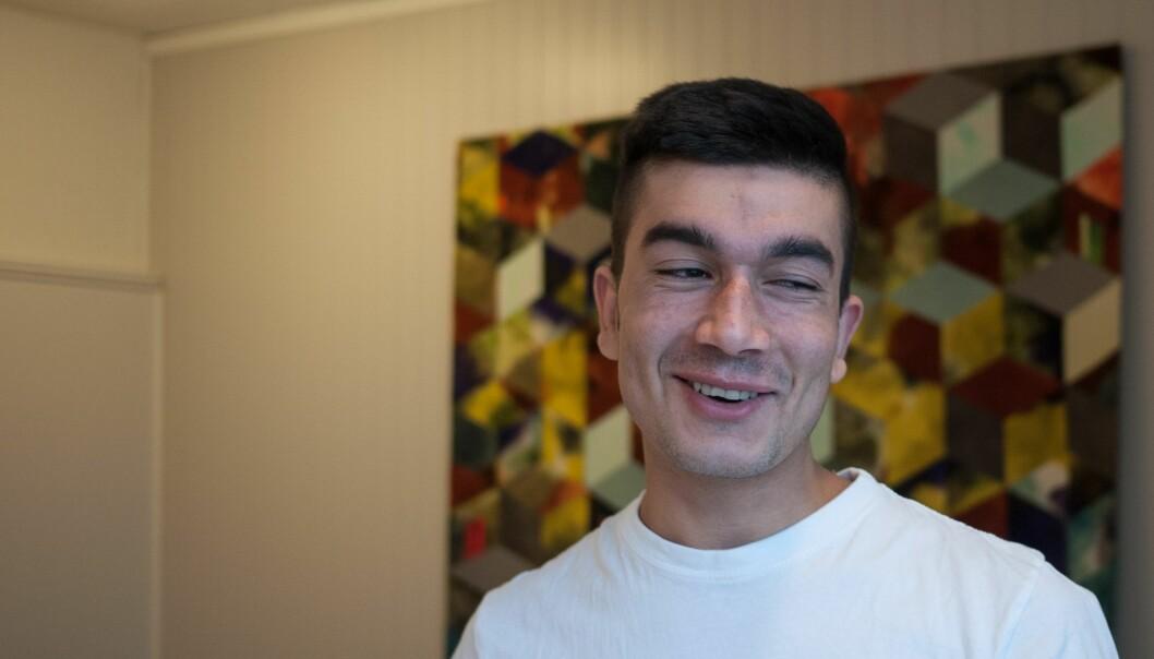 Yosef Andar i besøksrommet på Trandum. Foto: Helge Øgrim