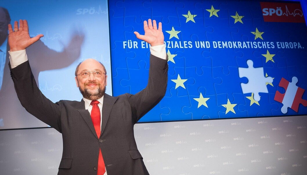 SPD-leder Martin Schulz ønsker Europas forente stater.