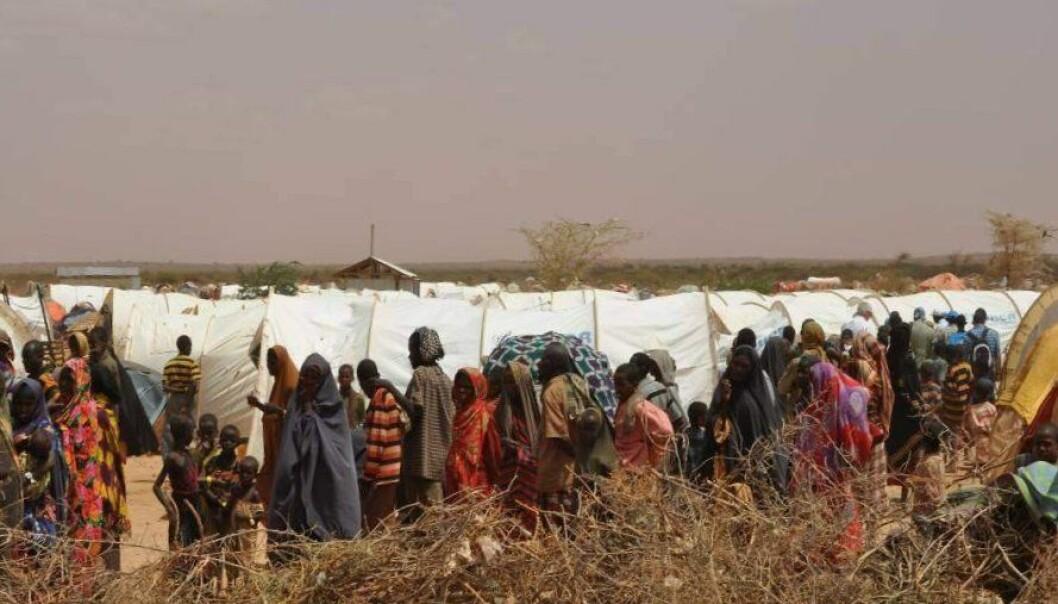 Øst-afrikanske flyktninger i en transittleir i Etiopia.