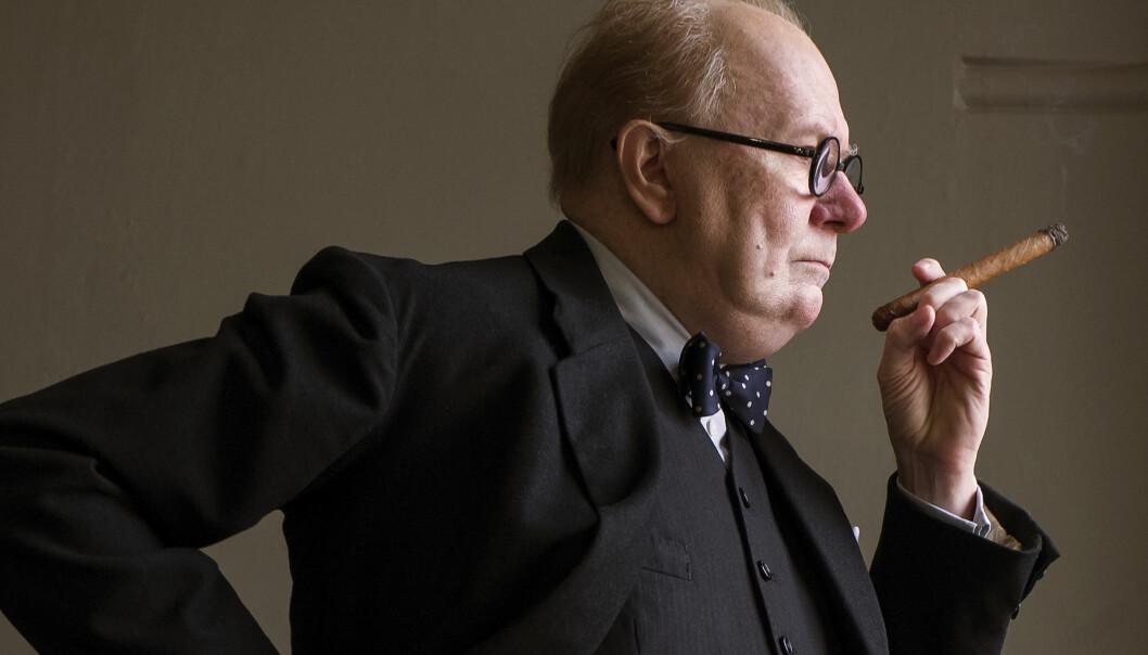 Gary Oldman stars as Winston Churchill in director Joe Wright's DARKEST HOUR, a Focus Features release.