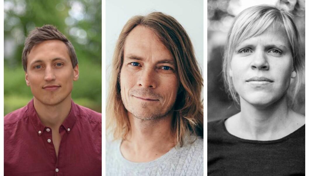 I panelet: Aksel Braanen Sterri, Peder Kjøs og Åste Dokka.