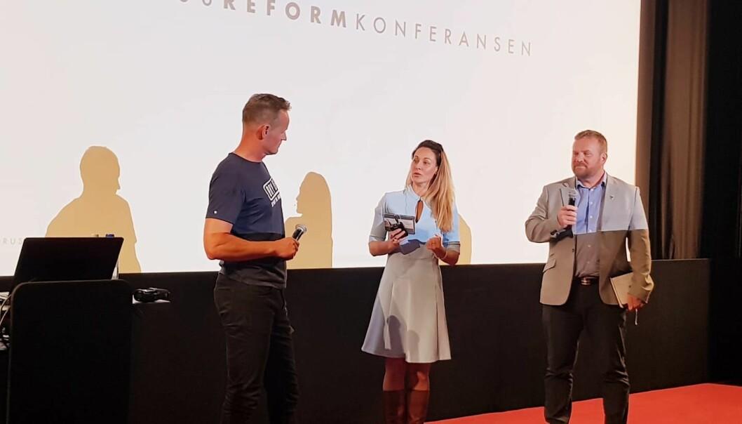 Bård Dyrdal fra LEAP Scandinavia og Torbjørn Trommestad fra NNPF møttes til debatt på tirsdag.