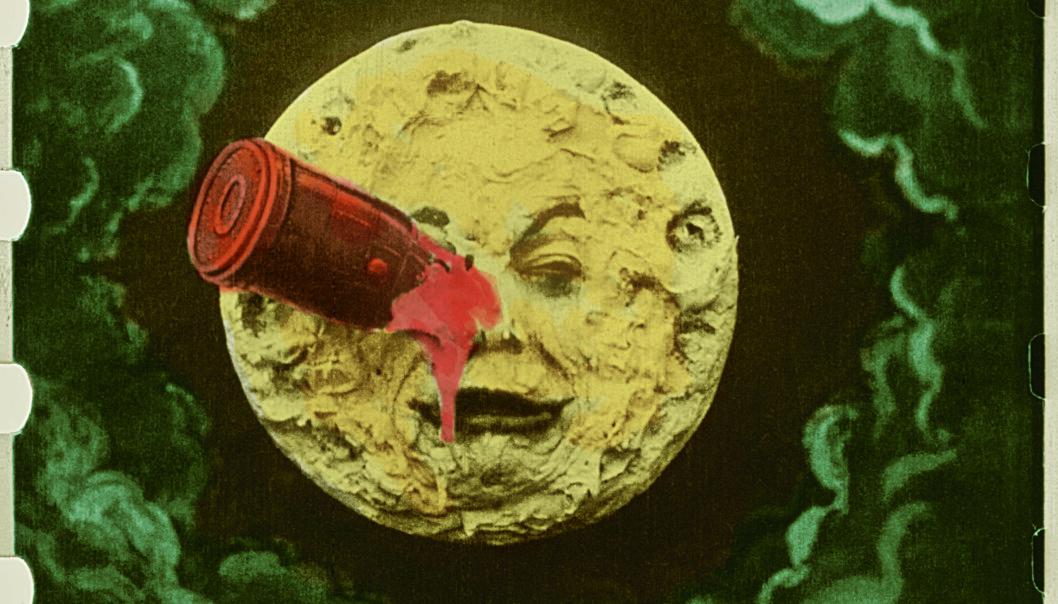"""På bildet: Georges Méliès: """"Le Voyage dans la Lune"""", 1902, """"A Trip to the Moon."""","""