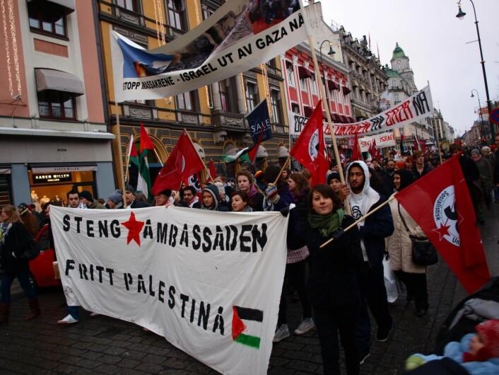 SU-demonstrasjon for Palestina i 2009.