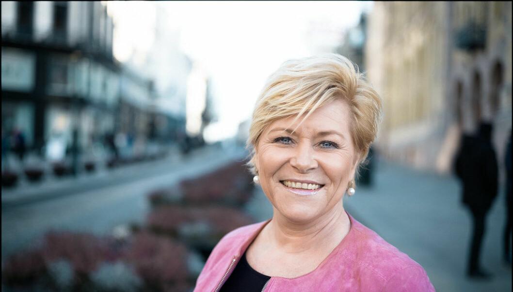 Siv Jensen har allerede glemt alt hun mente om eldrebølgen da hun var finansminister.