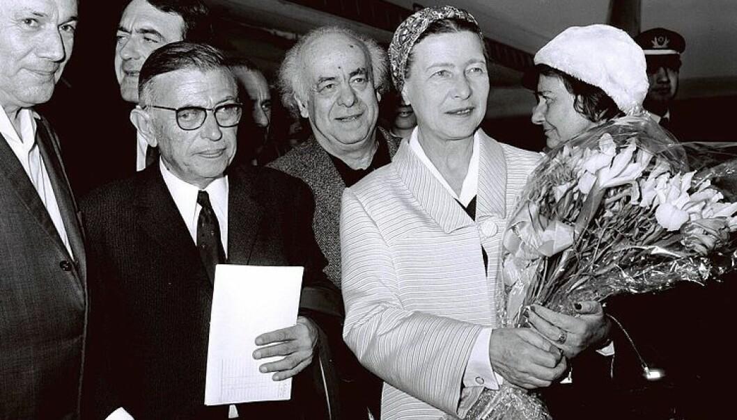 Jean Paul Sartre og Simone de Beauvoirs åpne forhold var velkjent og varte livet ut. Bilde: Wikimedia Commons
