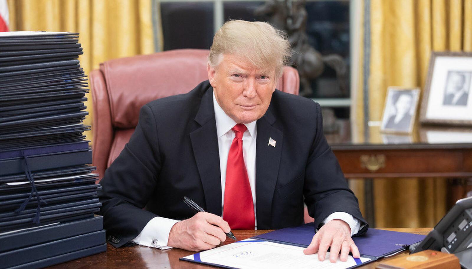 Donald Trump i Det ovale kontor