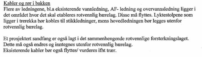Fra Friluftsetatens uttalelser til saken, 2010.