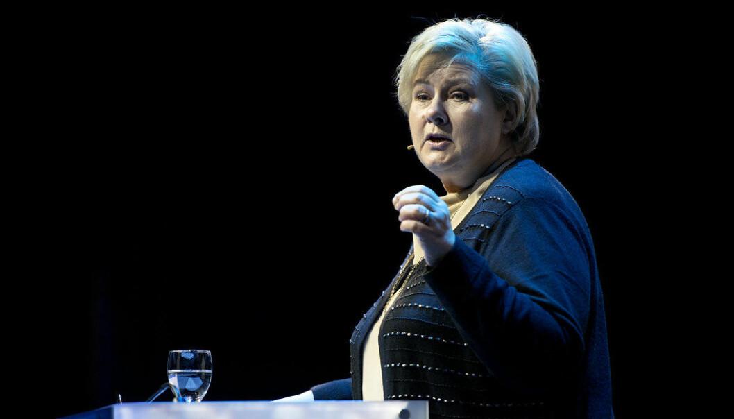 Statsminister Erna Solberg. Foto: Marius Nyheim Kristoffersen/Flickr (CC BY 2.0)