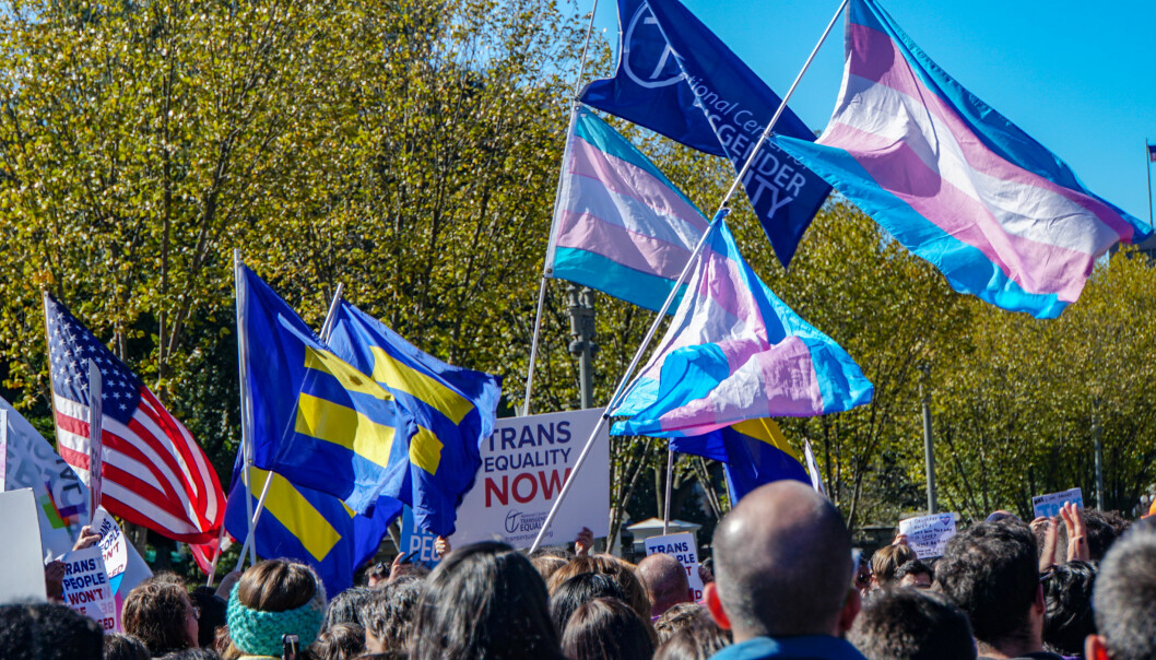 Fra markeringen «We Won't Be Erased – Rally for Trans Rights, Washington D.C. 22. oktober 2018.