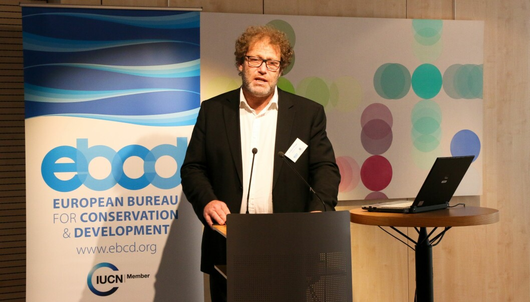 Leder i Bellona, Frederic Hauge, mener det finnes en betydelig fornektelse av fakta og realiteter om klima. Foto: Julie Johnsen/Norges delegasjon til EU/Flickr (CC BY 2.0)