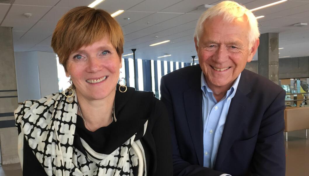 Christine Meyer og Victor Norman er aktuelle med boka «Ikke for å konkurrere». Foto: Anne Ivarsen/Fagbokforlaget