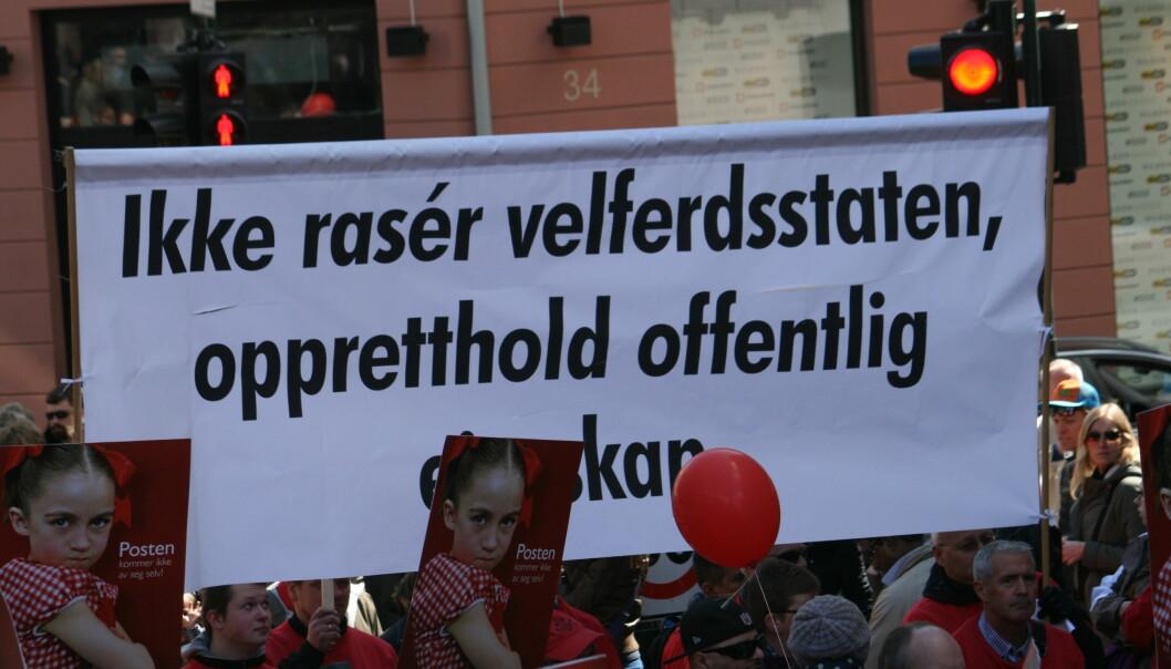 Det viktigste er ikke alltid hvem som leverer velferdstjenesten, men at den blir levert på en god nok måte, skriver innleggsforfatteren. Her fra 1. maitoget i Oslo 2015. Foto: GGAADD/Flickr (CC BY-SA 2.0)