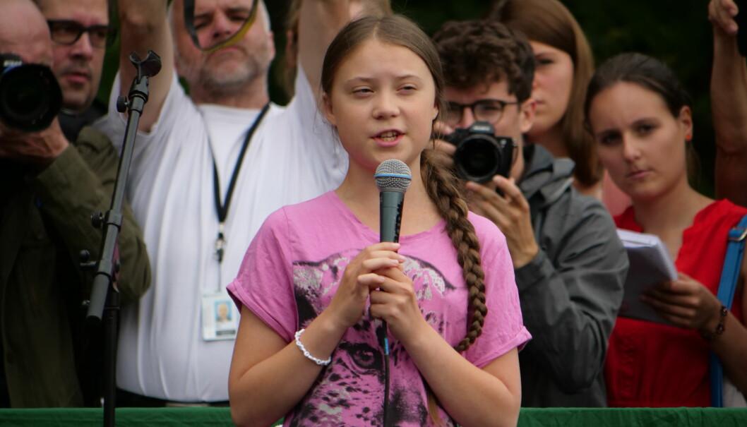 Greta Thunberg har i rekordfart blitt verdens fremste klimaaktivist etter at hun begynte sin skolestreik for klimaet i fjor. Her fra arrangementet Fridays For Future i Berlin i juli.