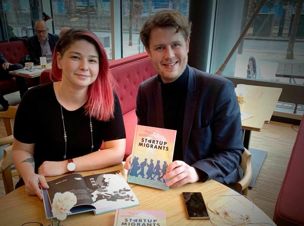Maria Amelie og Nicolai Strøm-Olsen er aktuelle med boka «Grenseløse gründere». Foto: Frekk forlag