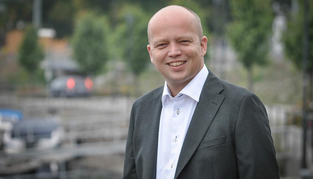 Sp-leder Trygve Slagsvold Vedum har grunn til å smile over siste måling i Aftenposten. Foto: Senterpartiet/Flickr (CC BY-ND 2.0)