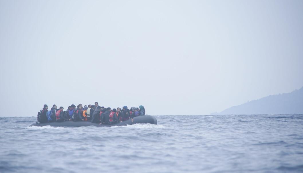 Båtflyktninger.