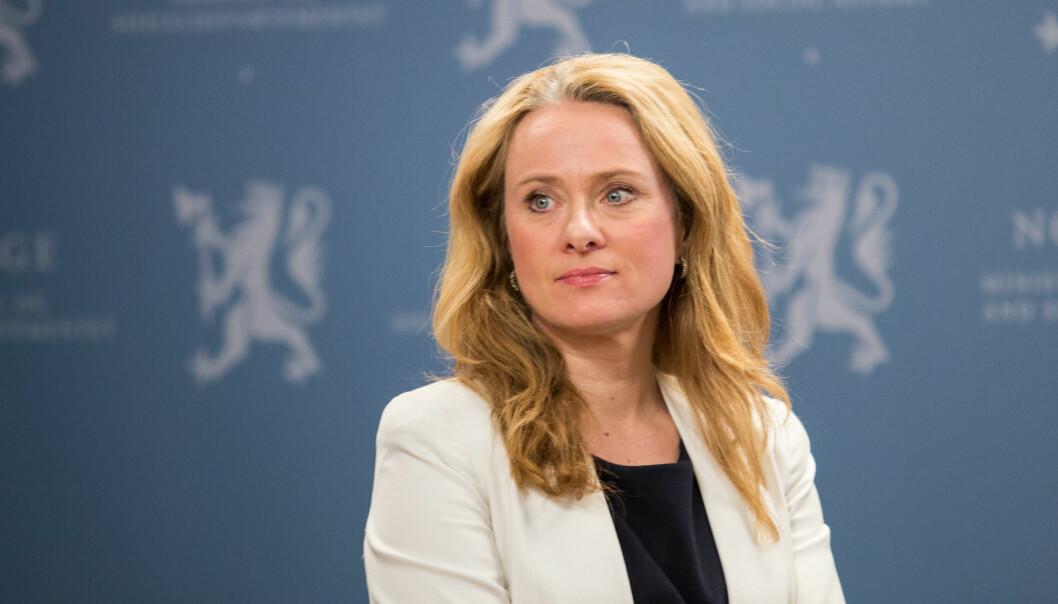 Arbeids- og sosialminister Anniken Hauglie. Foto: Jan Richard Kjelstrup/ASD