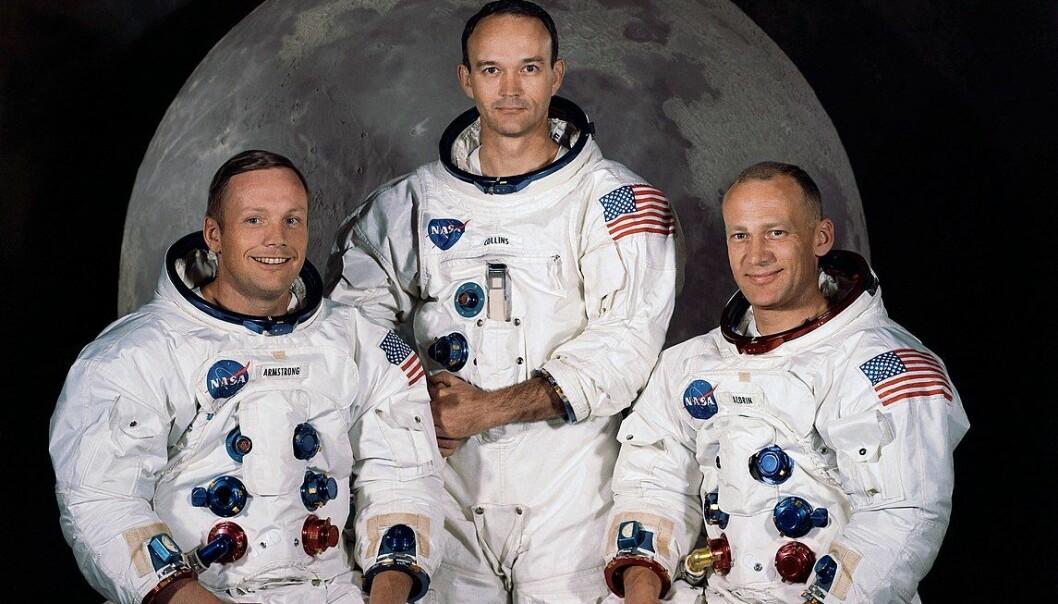 Fremdeles er det ganske mange som tror at mannskapet på Apollo 11 aldri landet på månen. Foto: NASA.
