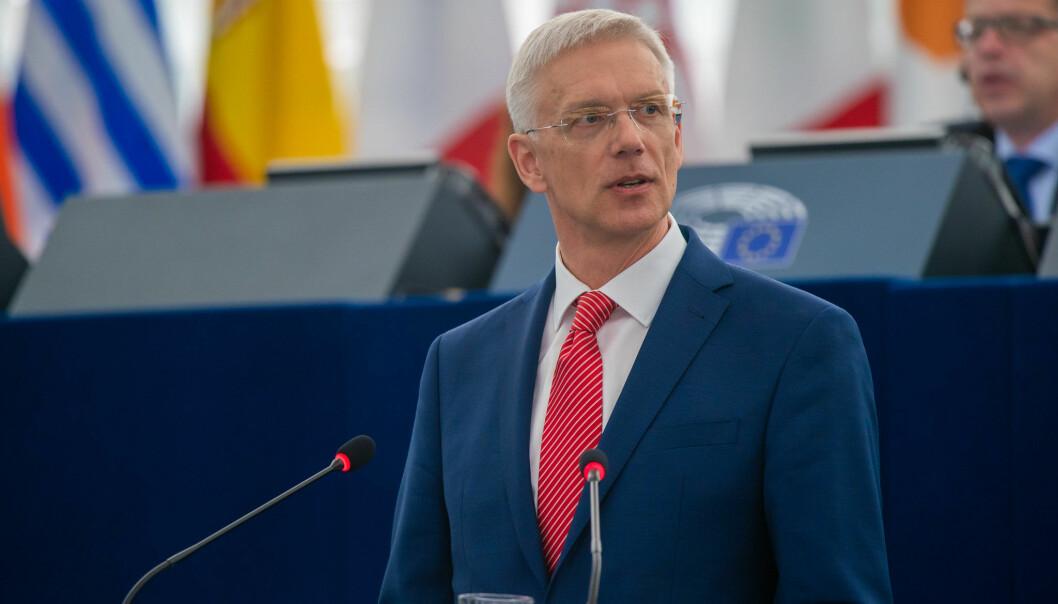 «Go green or die.» Latvias statsminister Krisjanis Karins har tatt til orde for samarbeid mellom konservative og grønne partier. Foto: Gabor Kovacs/Flickr CC-BY-4.0: © European Union 2019 – Source: EP