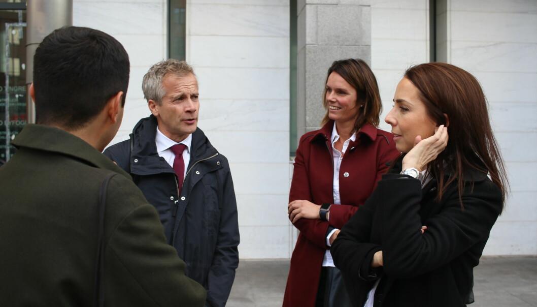 ELTE-studentenes advokater (fra venstre): Per Andreas Bjørgan, Chirsti Erichsen Hurlen og Hilde Kristin Ellingsen. Foto: Maria Skarpaas Andersen