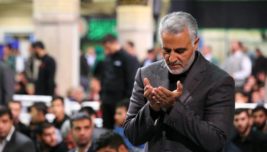 Qasem Soleimani ble drept i et amerikansk luftangrep i Irak 3. januar.