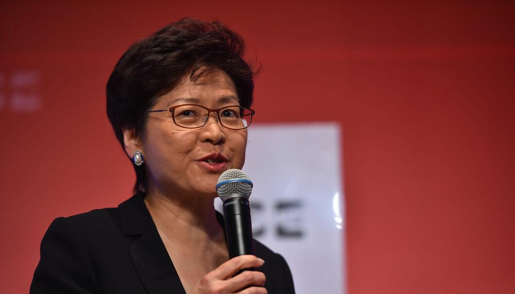Hongkongs leder Carrie Lam