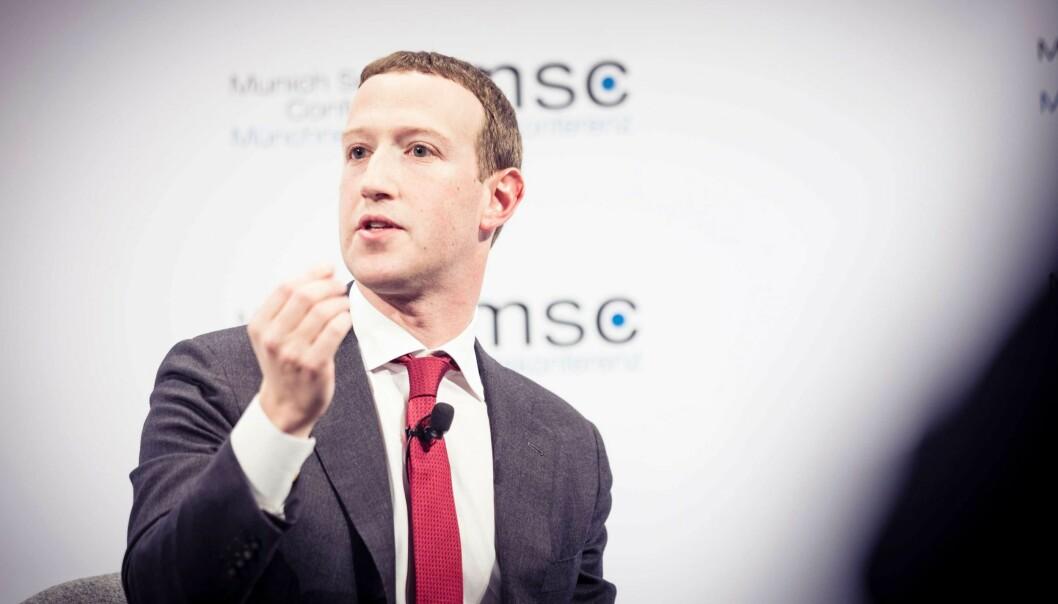 Mark Zuckerberg på sikkerhetskonferansen i Munchen 2020