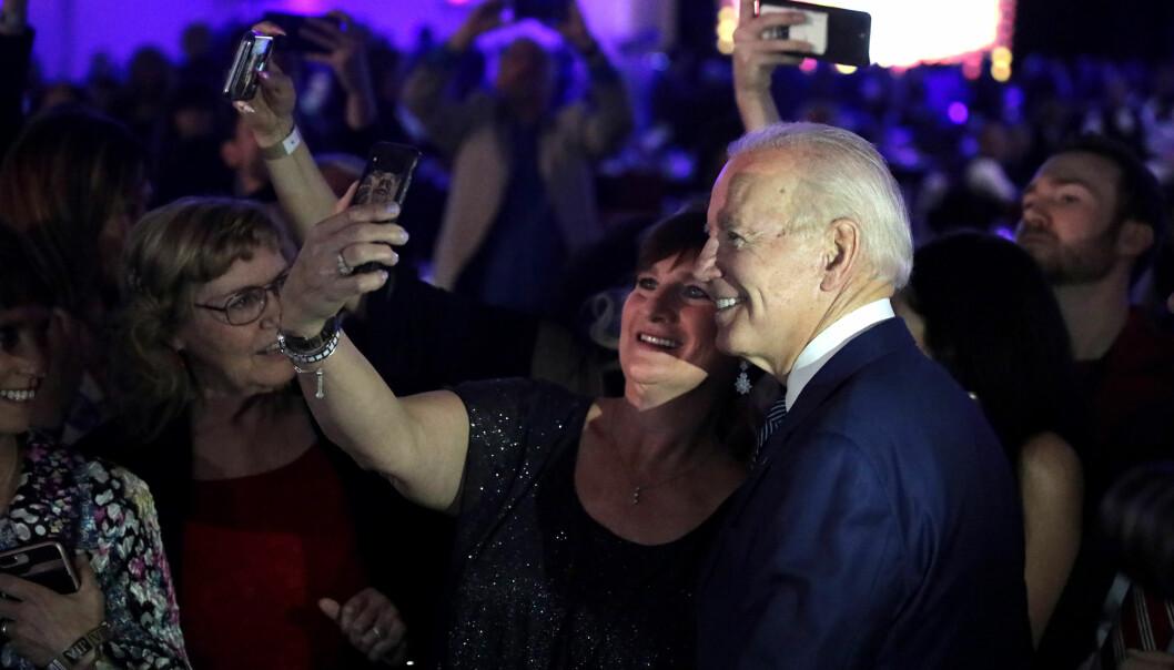 Joe Biden, her i Nevada, fikk en etterlengtet seier i nattens primærvalg.