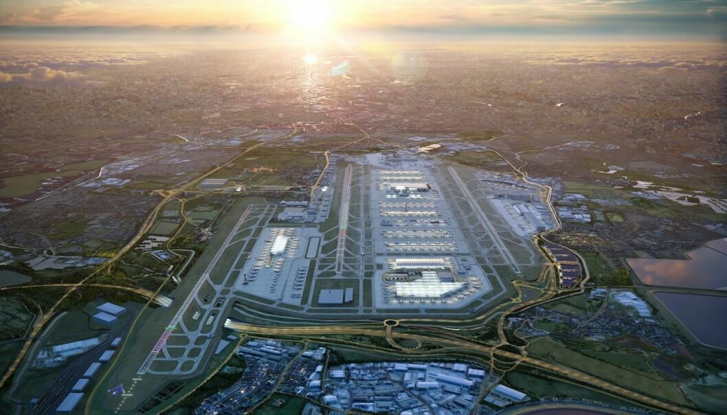 ULOVLIG: Retten mener planene om en tredje rullebane på Heathrow ikke tok tilstrekkelig hensyn til britiske myndigheters forpliktelser via Parisavtalen. Nå er det usikkert om det blir utbygging.