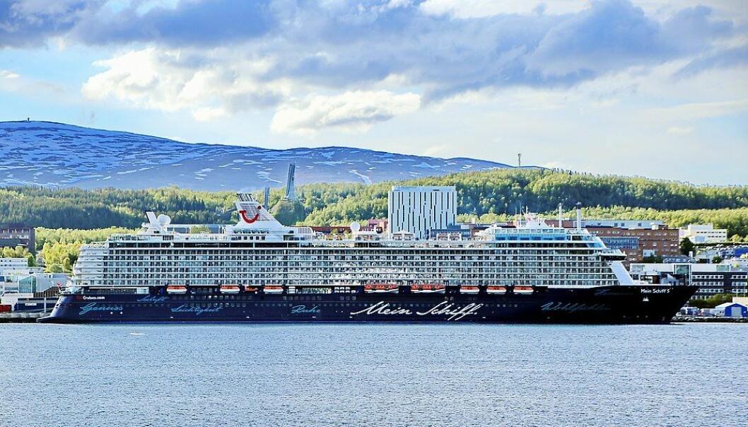 Mark König / Creative Commons Cruise ship Mein Schiff 5 in Tromsø (June 2018)