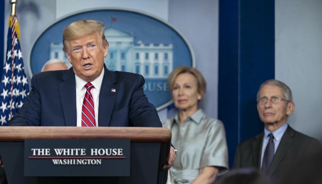 Donald Trump og USA kom sent og halvhjertet til tiltak mot koronaviruset, skriver Nils August Andresen.