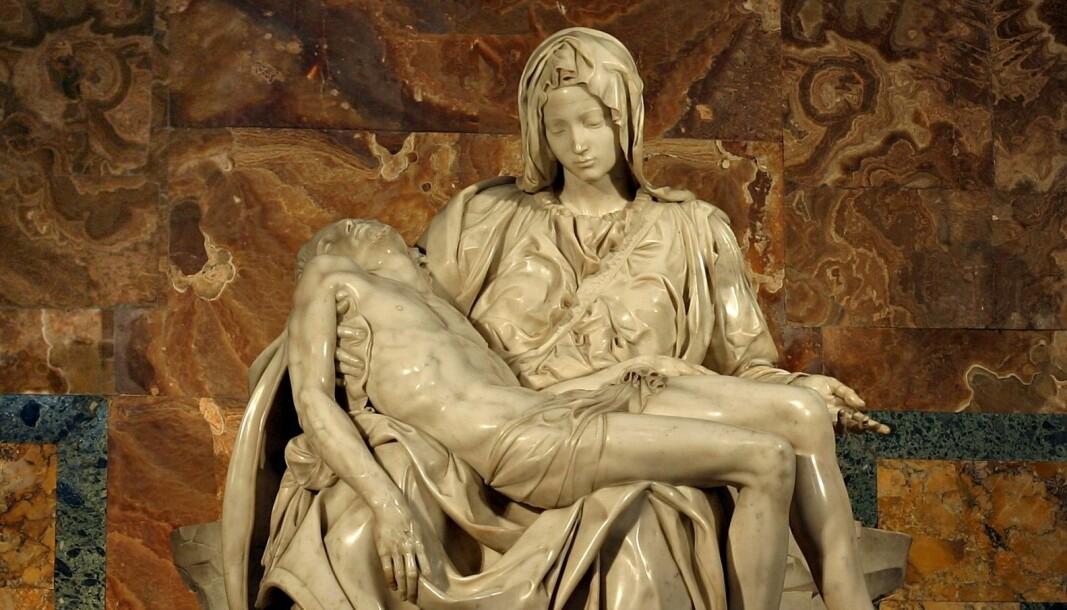 For filosofen Josef Pieper omfatter vår virkelighet en trosvirkelighet, skriver Henrik Holm i denne artikkelen. Med sin skulptur Pietà skapte Michelangelo en ung, rolig og himmelsk jomfru Maria.
