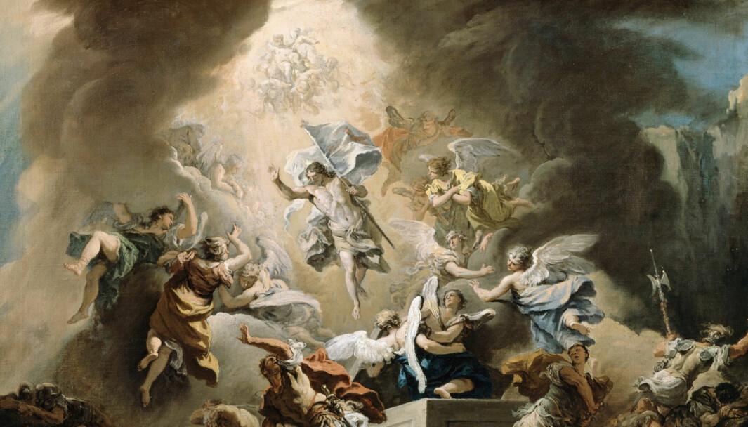 Bildet Oppstandelse (ca. 1715) – av Jesu' oppstandelse – er malt av Sebastiano Ricci. Og Kristne venter på at Jesus skal komme igjen. Det er naturlig, men når det blir spekulativt, blir det også farlig.