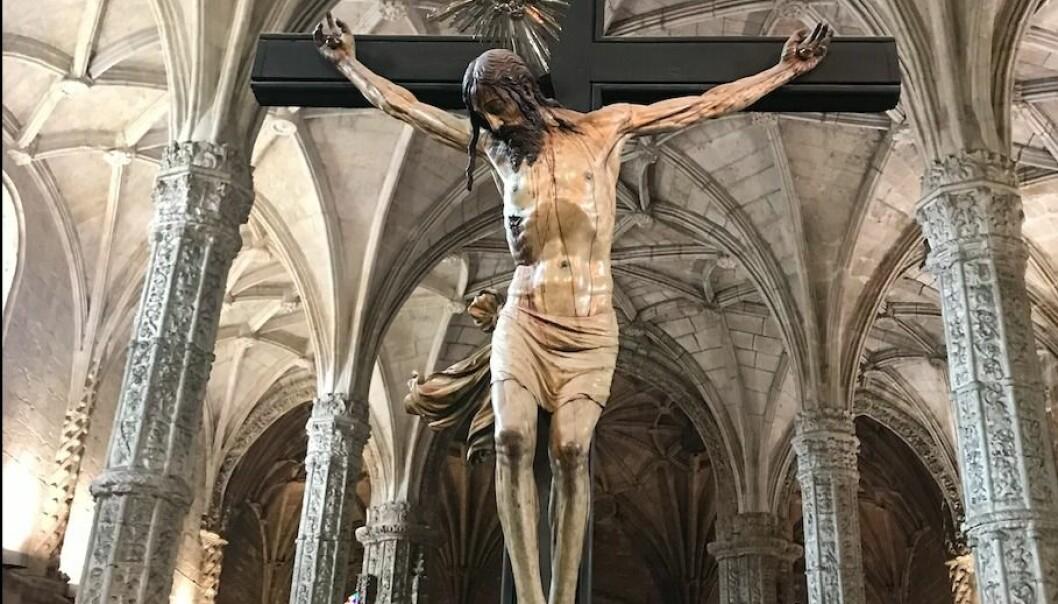 Jesusstatuen i Jeronimos kloster i Lisboa
