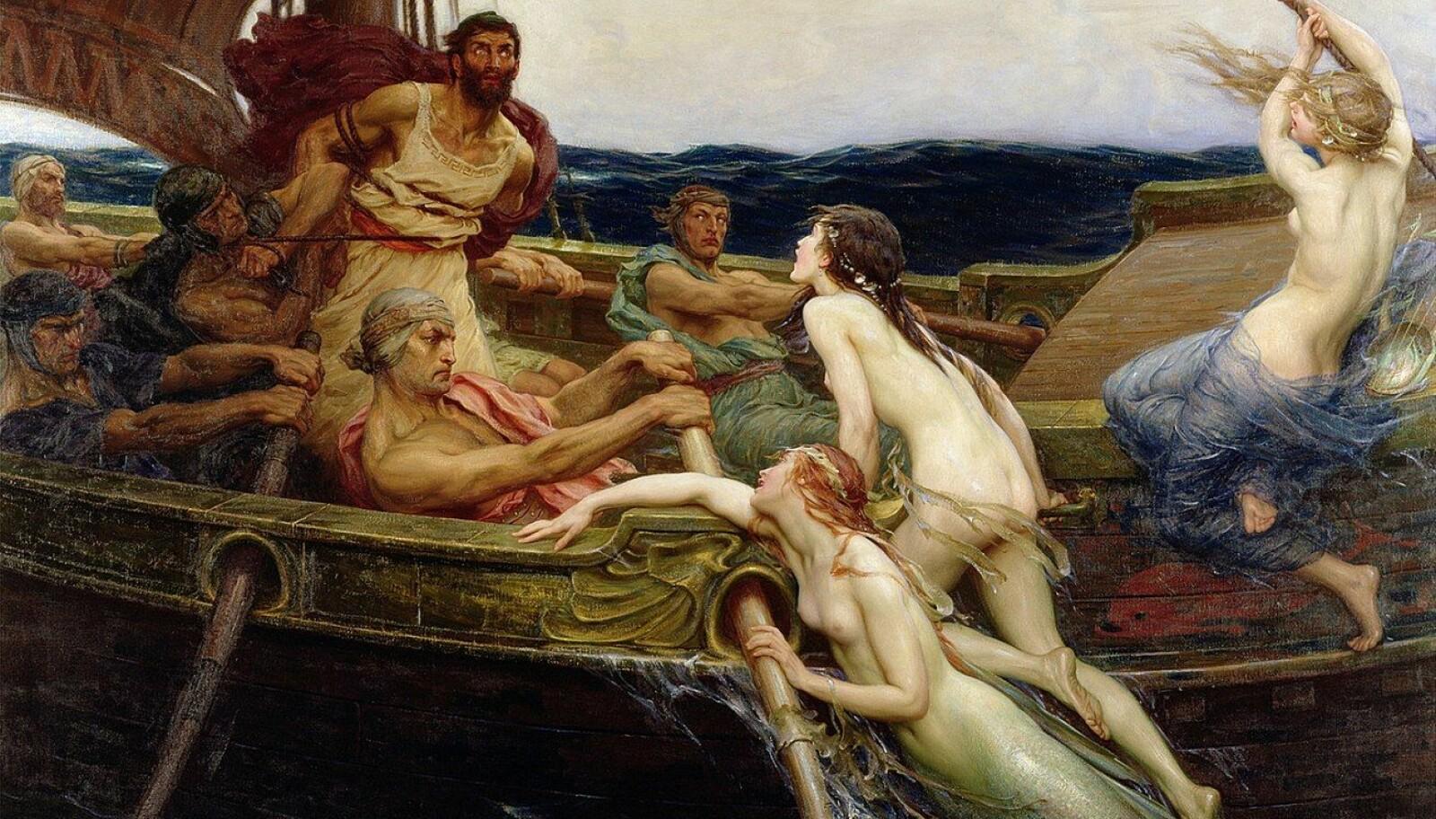 Sirener var ifølge antikkens greske mytologi forlokkende og ødeleggende vesener, ofte fremstilt som kvinnelige vesener. Med sin fortryllende sang lokket de sjøfolk til å begå skipbrudd mot klippene av deres øy.