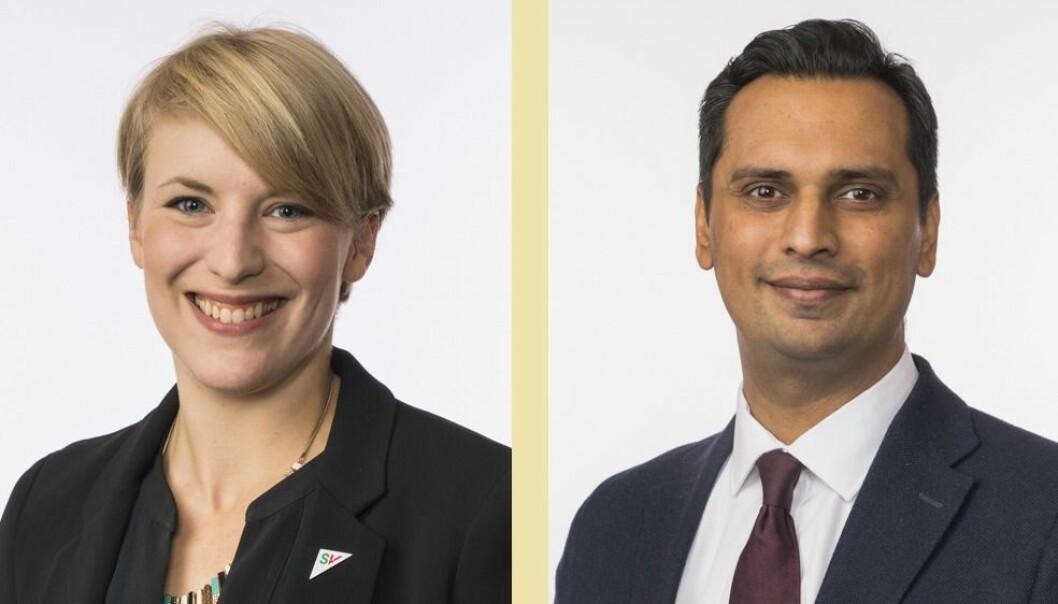 Kari Elisabeth Kaski (SV) og Mudassar Kapur (H).